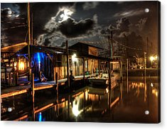 Still Marina Acrylic Print by Michael Thomas