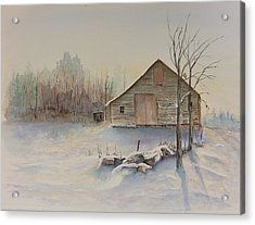 Still River Barn Acrylic Print by Michael McGrath