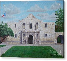 Still Standing Strong - The Alamo Acrylic Print by Terrie Leyton
