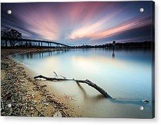 Acrylic Print featuring the photograph Still Sunset - Jonas Green by Jennifer Casey