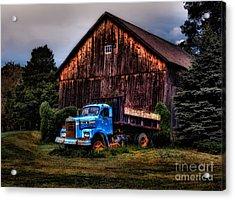 Still Truckin Acrylic Print by Susan Candelario