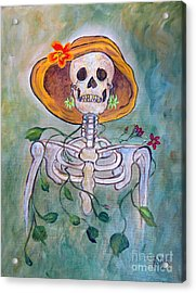 Acrylic Print featuring the painting Still Waiting For Mr. Right by Ella Kaye Dickey