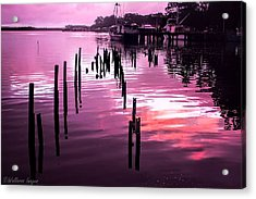 Acrylic Print featuring the photograph Still Water Dusk 2 by Wallaroo Images