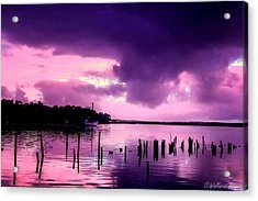 Acrylic Print featuring the photograph Still Water Dusk by Wallaroo Images