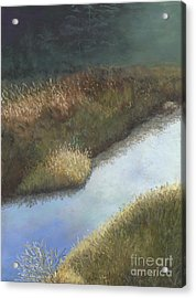 Still Water Acrylic Print by Ginny Neece