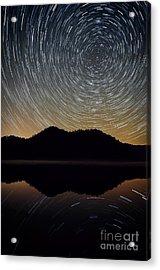 Still Water Star Trails Acrylic Print by Anthony Heflin