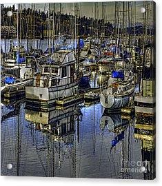 Acrylic Print featuring the photograph Still Water Masts by Jean OKeeffe Macro Abundance Art