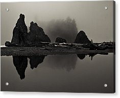 Stillness At Ruby Beach Acrylic Print