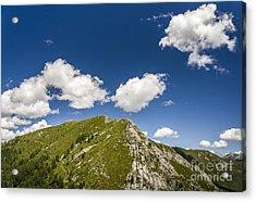 Stillness At The Peak Of Cimetta Acrylic Print by Ning Mosberger-Tang