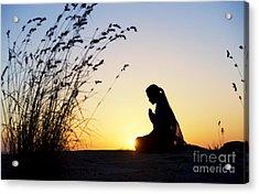 Stillness Of Prayer Acrylic Print by Tim Gainey