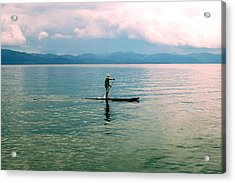 Stillness On The Lake Acrylic Print by Tamyra Crossley