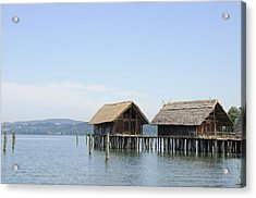 Stilt Houses In The Water Lake Constance Acrylic Print by Matthias Hauser