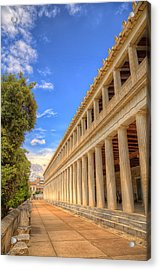 Acrylic Print featuring the photograph Stoa Of Attalos by Micah Goff
