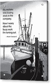Stock In The Company Acrylic Print by Mike Flynn