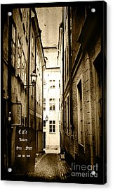 Stockholm Cafe Acrylic Print by Joan McCool