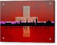 Stockholm City Acrylic Print