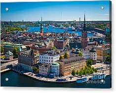 Stockholm From Above Acrylic Print by Inge Johnsson