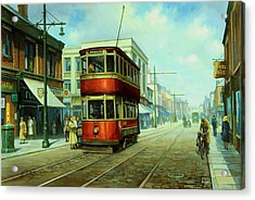 Stockport Tram. Acrylic Print by Mike  Jeffries