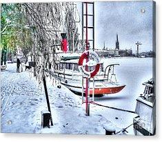 Stokholm Swiss Winter Acrylic Print by Yury Bashkin