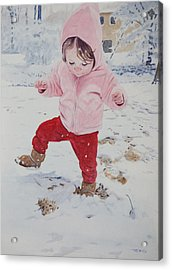 Stomping In The Snow Acrylic Print