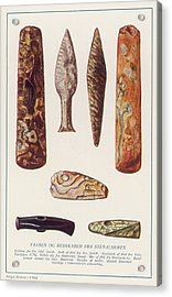 Stone Age Artifacts From Norway - Tools Acrylic Print by Mary Evans Picture Library