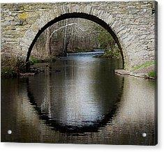 Stone Arch Bridge - Craquelure Texture Acrylic Print