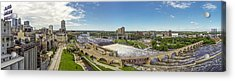 Stone Arch Bridge From The Air Acrylic Print