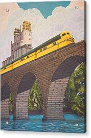 Stone Arch Bridge Acrylic Print by Jude Labuszewski