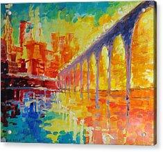 Stone Arch Bridge Acrylic Print by Nelya Shenklyarska
