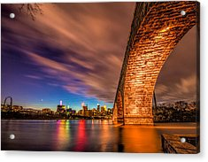 Stone Arch Minneapolis Acrylic Print by Mark Goodman