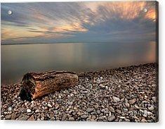 Stone Beach Acrylic Print by James Dean