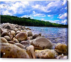 Acrylic Print featuring the photograph Stone Beach by Zafer Gurel
