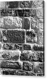 Stone Brick Wall Acrylic Print by Jagdish Agarwal