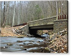 Stone Bridge At Cherry Run #1 - Bald Eagle State Forest Acrylic Print