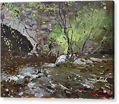 Stone Bridge At Three Sisters Islands Acrylic Print by Ylli Haruni