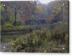 Stone Bridge In Autumn I Acrylic Print