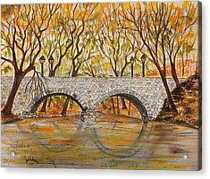 Stone Bridge Acrylic Print by Jack G  Brauer