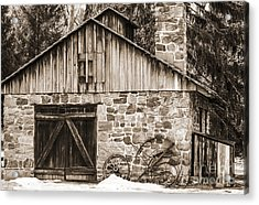 Stone Cabin 2 Acrylic Print by Judy Wolinsky