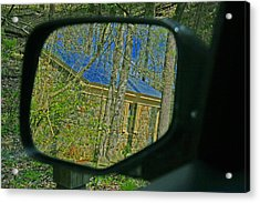 Acrylic Print featuring the photograph Stone Cabin Reflection by Andy Lawless