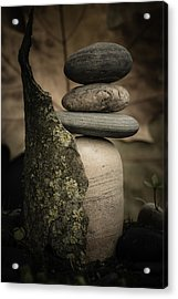 Stone Cairns IIi Acrylic Print by Marco Oliveira