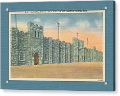 Stone Castle Bristol Tn Built By Wpa Acrylic Print