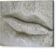 Acrylic Print featuring the photograph Stone Cold Lips by Ella Kaye Dickey