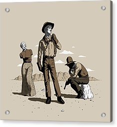 Acrylic Print featuring the digital art Stone-cold Western by Ben Hartnett