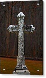 Stone Cross Acrylic Print by Rowana Ray