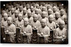 Stone Figures Of Jizo Acrylic Print