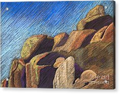 Stone Formations Acrylic Print by Pattie Calfy