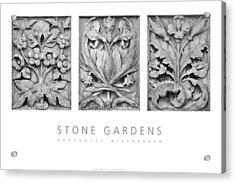 Stone Gardens 2 Naturally Distressed Poster Acrylic Print by David Davies