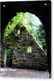 Stone House Doorway Acrylic Print by Lizbeth Bostrom
