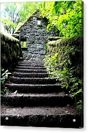 Stone House Stairs Acrylic Print by Lizbeth Bostrom