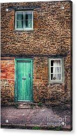 Stone House With Green Door Acrylic Print